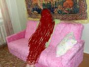 Продам диван розовый